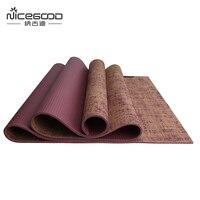 5mm Thick Jute Yoga Pad Eco Cushion High Quality Yoga Mat Red Nicegood