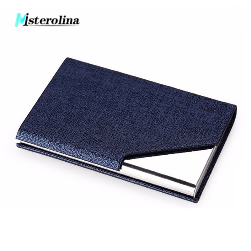 Business type Men Stainless steel card case 9.6*6.3*1.3 cm bank credit card holder can hold about 23 business cards 3 colors