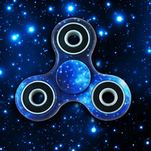 Blue Purple Camouflage Cute Printing Fidget Hand Finger Spinner For Autism and ADHD Anti Anxiety Camouflage