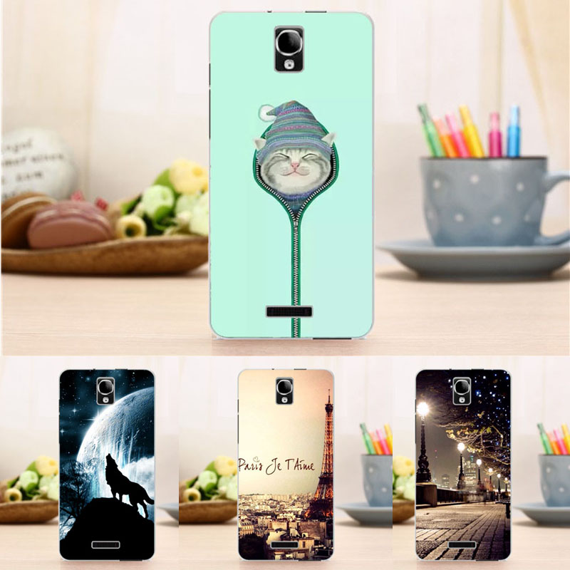 New Back Case for Alcatel One Touch Pop Star 4G 5070X, 5070D Flower Crown Tower Pattern Cover Top Quality