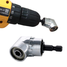 105 Degree Angle Screwdriver Set Socket Holder Adapter Adjustable Bits Drill Bit Angle Screw Driver Tool 1/4inch Hex Bit Socket angle bit driver adapter with bits and side handle for power drill driver tool y103