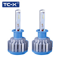 TC X H1 LED Headlights Conversion Kit Car Light Bulbs White with H1 Power Cable Connector Wire Auto Lamp Replacement Plug n Play
