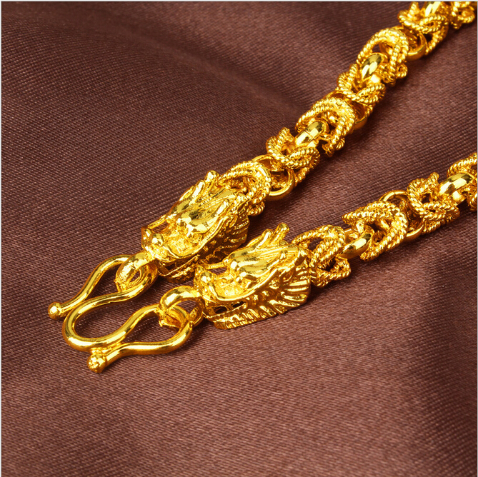 New chinese style classical dragon design mens men puck rock 24k