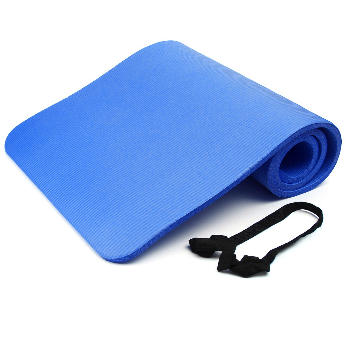 15mm Thick NBR Foam Yoga Mat Soft Yoga Pads Sports Training Exercise non-slip Gym Mat 183 X 61cm for Fitness Body Building iunio yoga mats 15mm fitness mat for body building exercise pilates home gym training folding eva pad outdoor camping yoga mat