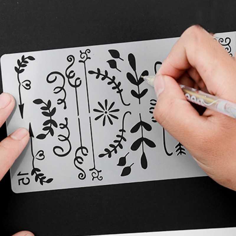 20 Hoa Văn Để Lựa Chọn Khác Nhau Tranh Stencil DIY Trang Trí Nhà Quy Hoạch Thêu Sò Album Thủ Công Nghệ Thuật Nov2