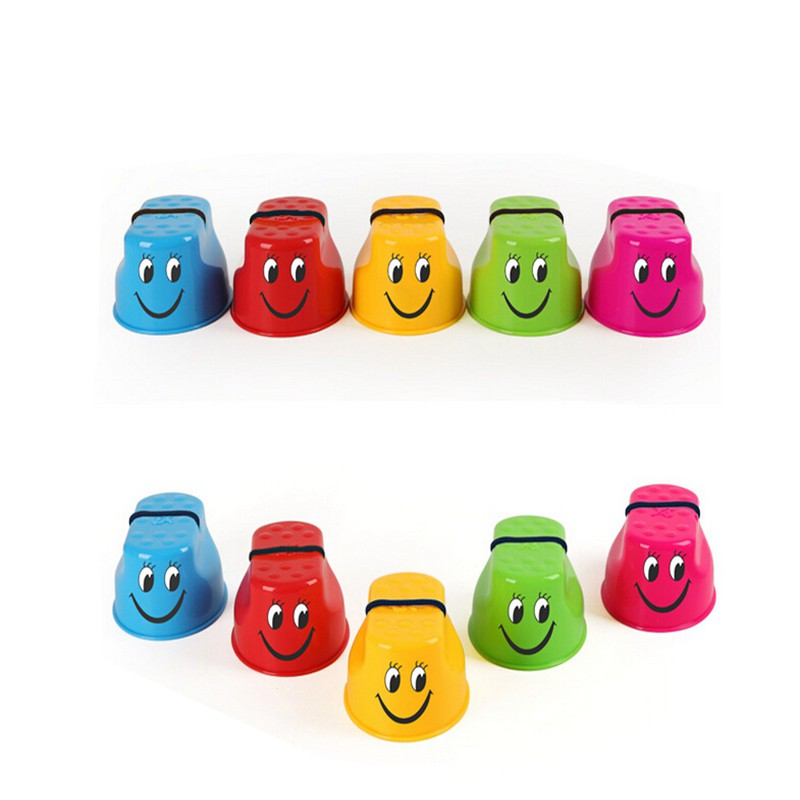 Workout Balance Plastic Face Smile Jumping Stilts Childrens Shoes Children Walker Monster Feet Fun Shoes