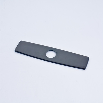 Quyanre czarny matowy nikiel chrom darmowa wysyłka 10 Cal pokrywa otworu płyta akcesoria do kranów kuchennych tanie i dobre opinie QA627 Cover Plate Kuchnia kran akcesoria Brushed Nickle Chrome 20170517