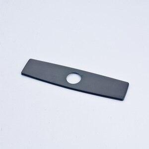 Image 1 - Quyanre níquel escovado preto cromo frete grátis 10 Polegada buraco placa de cobertura torneira da cozinha acessórios