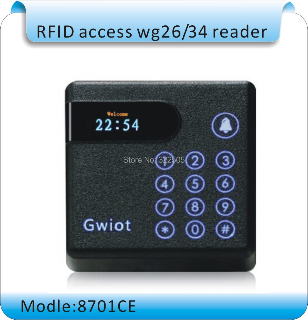 Free shipping Newest 8071CE 125Khz Rfid access control Reader/D Card Reader WG26/34 EM4100 Card Reader +10pcs card original access control card reader without keypad smart card reader 125khz rfid card reader door access reader manufacture
