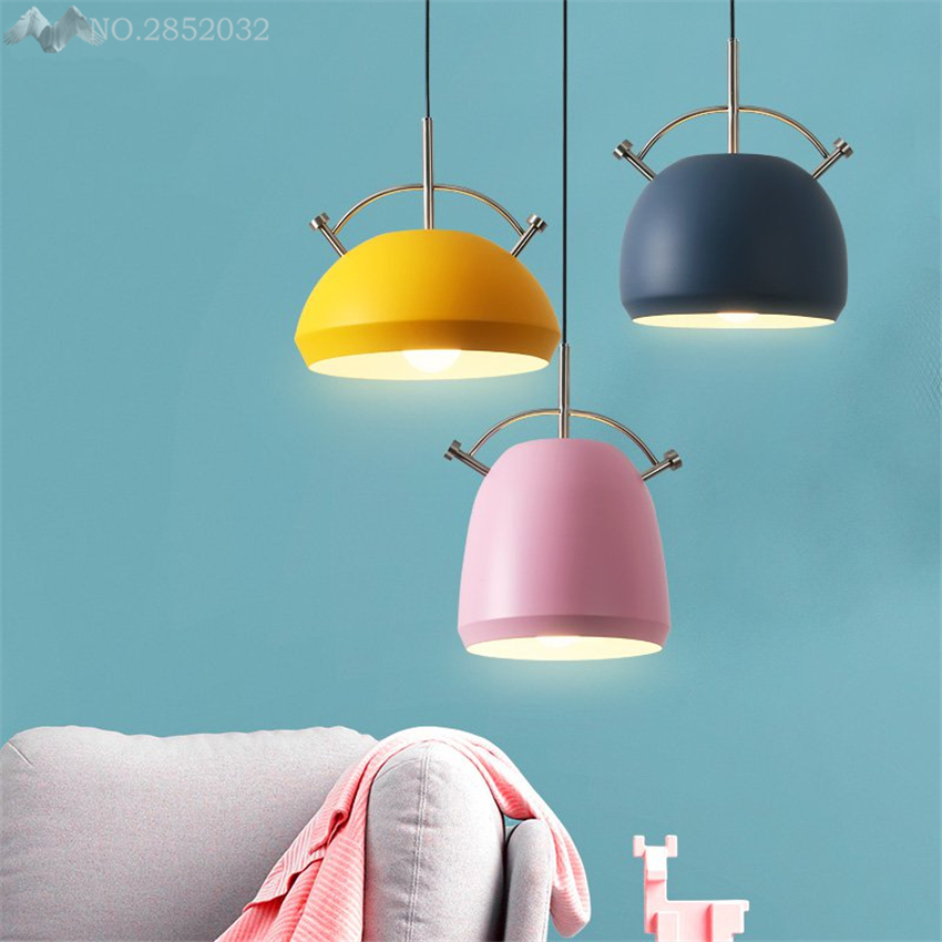 Nordic modern personality Creative pendant lamp iron Macaron pendant light for living room bedroom bedside Bar restaurant lightsNordic modern personality Creative pendant lamp iron Macaron pendant light for living room bedroom bedside Bar restaurant lights