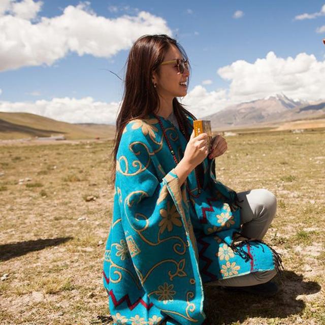2017 Новое прибытие осень зима шарфы 4 цвета хлопок шерсть сохранить теплые мягкие двойного назначения шаль ретро народные пользовательские моды шарф женщин