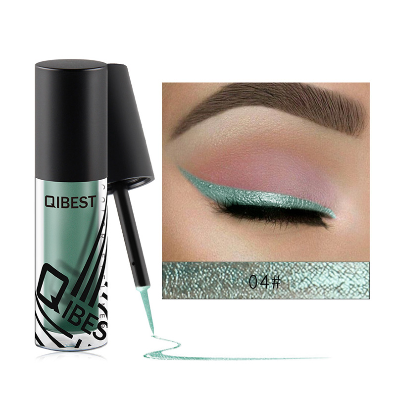 Qibest Long Lasting Waterproof Liquid Glitter Eyeliner Pencils Eye Make Up Eyeliner Shining Shimmer Eyeshadow Cosmetics E18031 free shipping 3 pp eyeliner liquid empty pipe pointed thin liquid eyeliner colour makeup tools lfrosted purple