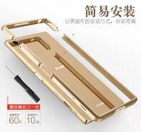 Luksusowe Wykwintne Cięcia Aluminium Metal Zderzak Case Do Sony Xperia Z5 Premium 5.5