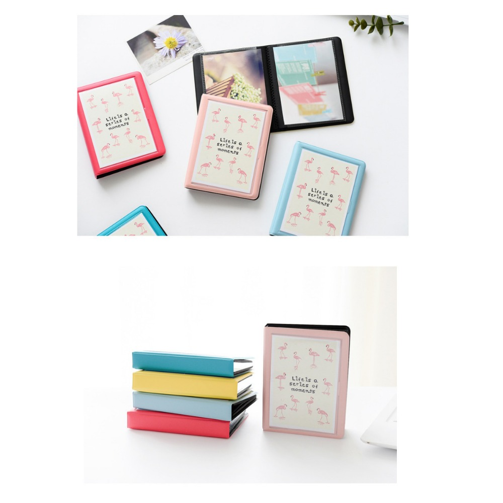 Image 2 - 32 Pockets Colorful Flamingo Mini Photo Album Picture Case Storage for 5 Inch Photo / Instax WIDE Film-in Camera/Video Bags from Consumer Electronics