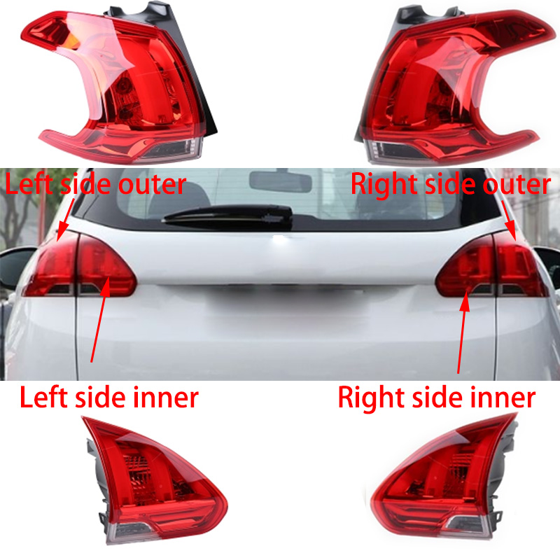 1pcs Car Light Assembly For peugeot 2008 Car Styling Rear Left Right Tail Light Lamp Reversing