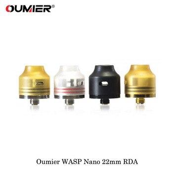 Oumier WASP NANO RDA – cigarette électronique, réservoir d'égouttage reconstructible de 22mm, atomiseur 510 avec embout adapté à la boîte à 510 têtes Mod Vape