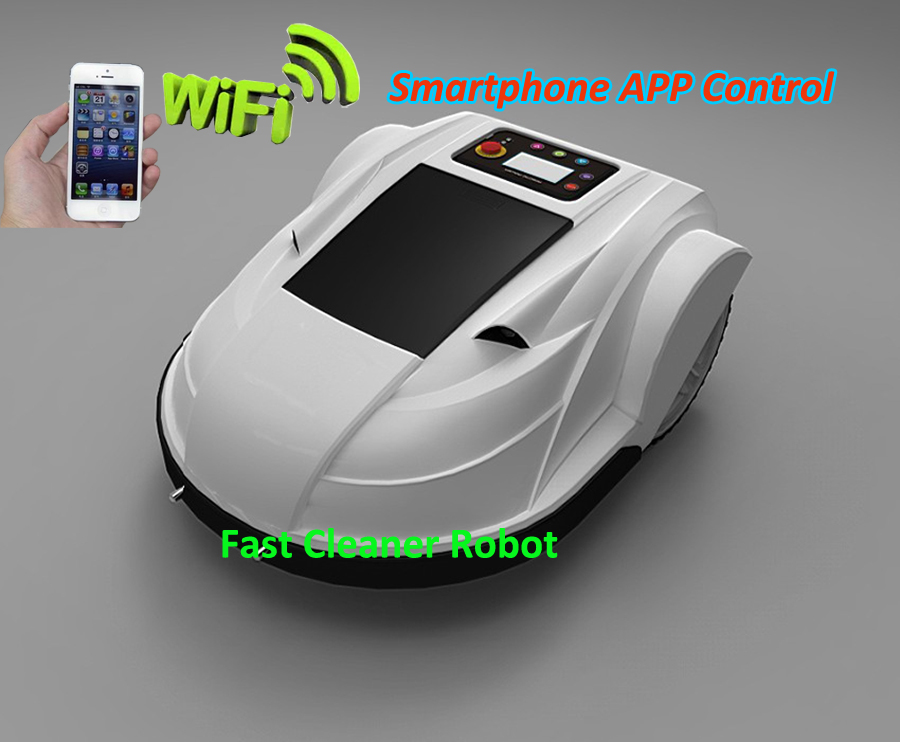 Smartphone WIFI APP Wireless Control Robot Garden Tool,Lawn Mower Robot Updated with Water-proofed Charged