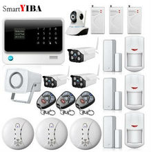 SmartYIBA APP Control WIFI IP Camera For Home Security Network Alarm Wireless GSM GPRS Alarmes Smoke