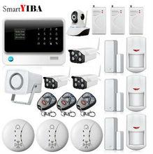 SmartYIBA APP Control WIFI IP Camera For Home Security Network Alarm Wireless GSM GPRS Alarmes Smoke Sensor Shock Alarm