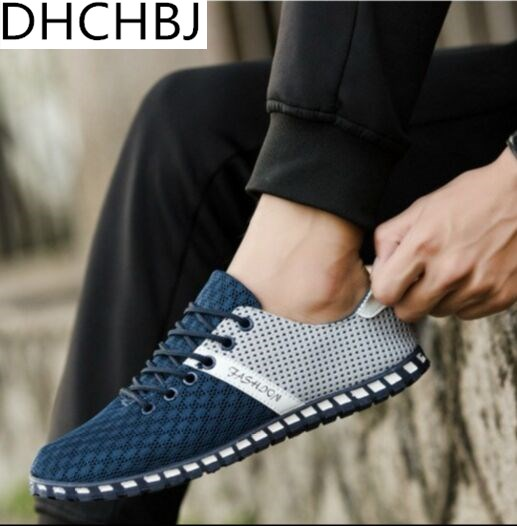 big size Breathable Mesh Men Casual Shoes New 2017 Fashion Men Shoes Soft Spring Autumn Footwear For Male Plus Size 46 slip-on shoe
