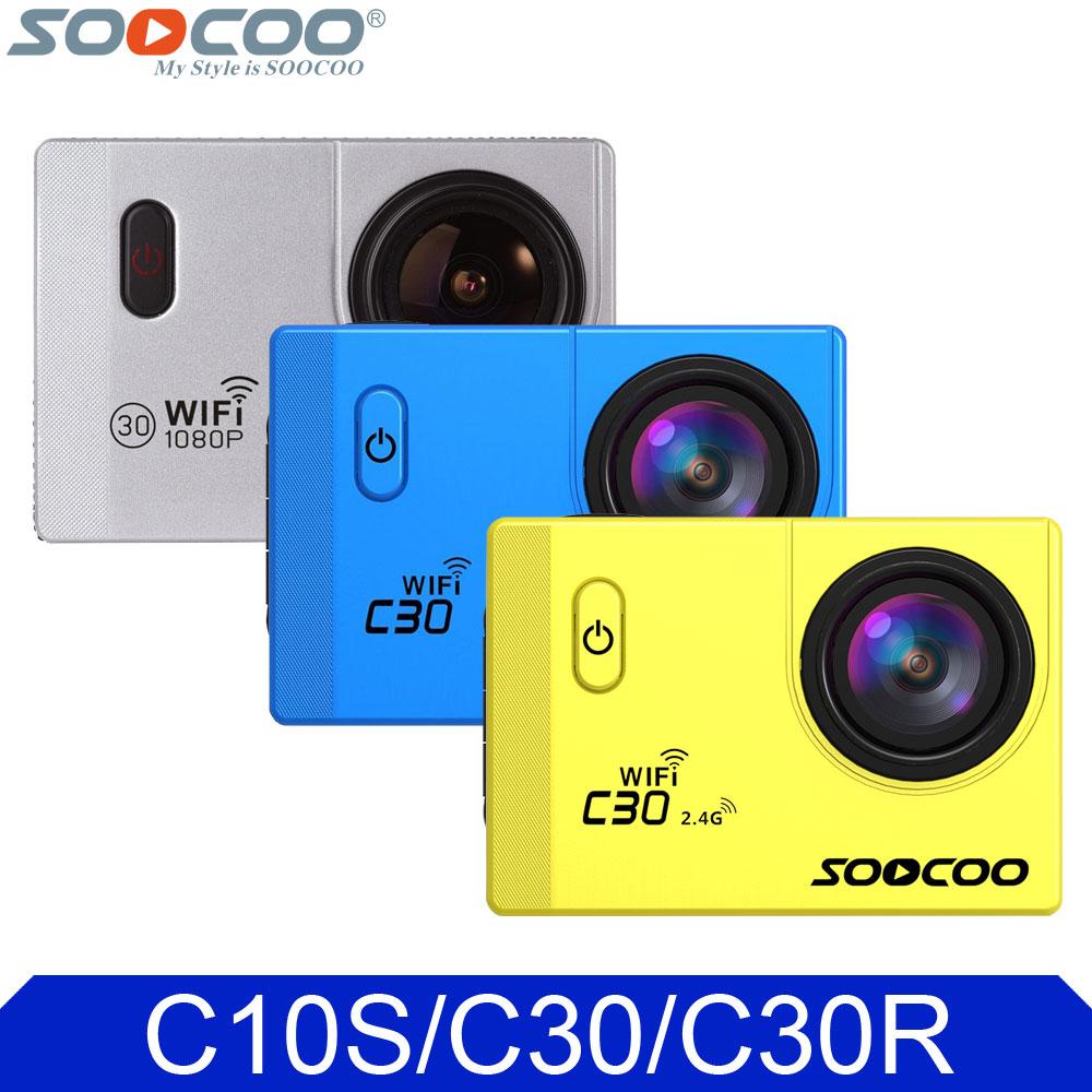"""Prix pour D'origine soocoo c série action vidéo caméra c30r télécommande c30 4 k 24fps gyro stabilisateur c10s wifi étanche 2.0 """"Sport DV"""