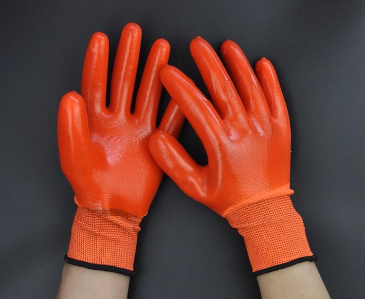 Gratis frakt superbillig 12 par Syre Alkali Resistent Arbeidshansker, - Sikkerhet og beskyttelse - Bilde 3