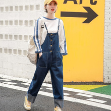 womens romper denim overalls for women summer autumn 2018 roll up casual long pants women jumpsuit plus size jeans rompers roll up hem ripped denim overalls