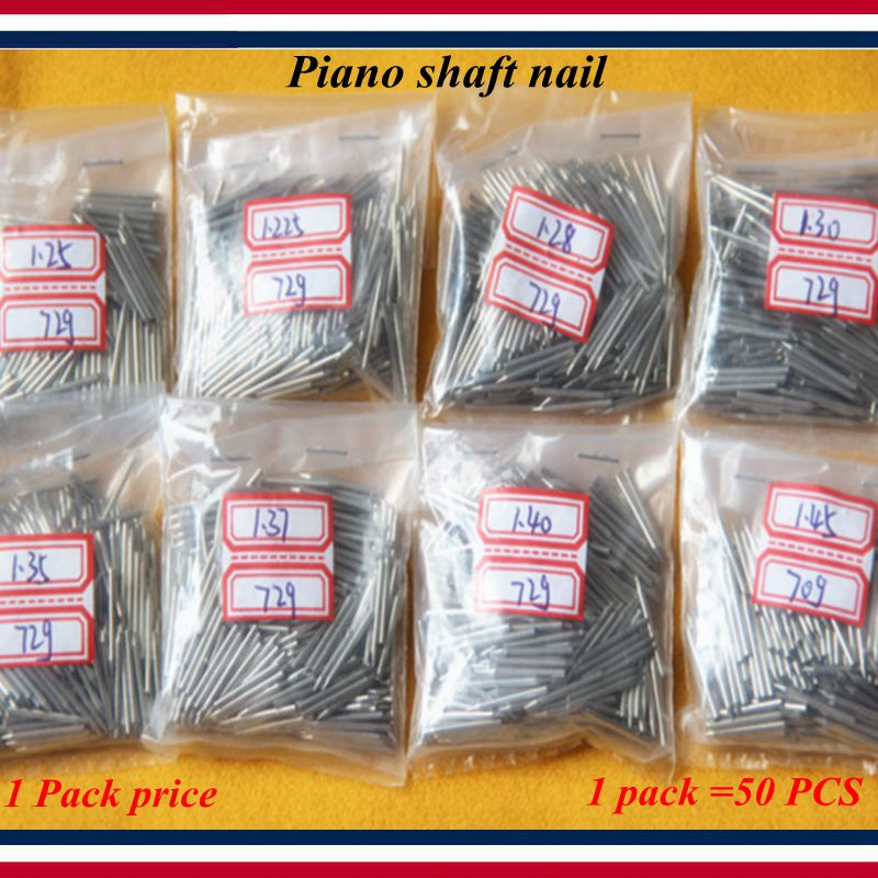 Piano Tuning Maintenance Tools - Piano Shinda Needle, Piano Shaft Nail, 1.225--1.40 Model, 1 Pack =50Pcs - Piano Parts