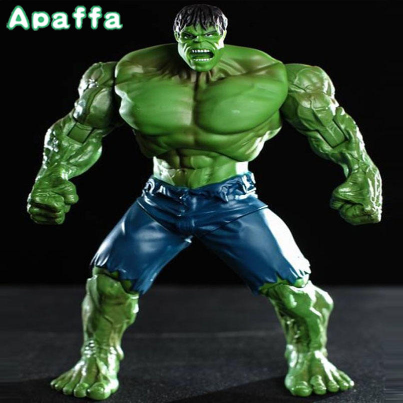 26cm Movie Super Hero The Hulk PVC Action Figure Toy Green Hulk Figures Toys Brinquedos Collectible Model Kids Toys Gift 20cm 2017 new avengers toys light rotate iron man hulk pvc action figure model toys brinquedos kids gift original box