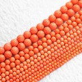 Natural reddish orange coral round beads 2mm 3mm 4mm 6mm 8mm diy loose beads high grade charming jewelry making 15inch B652