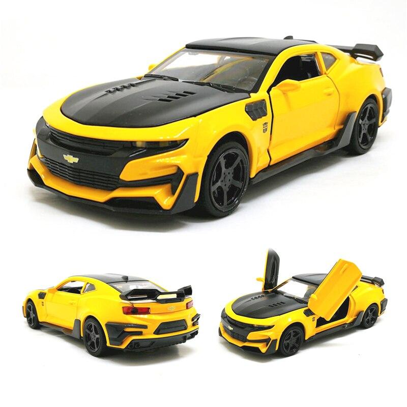 все цены на 1:32 Hot Camaro Alloy Diecast Car Models Door Open Super Hornet Juguetes Cars Toys for children kids adult birthday gift онлайн