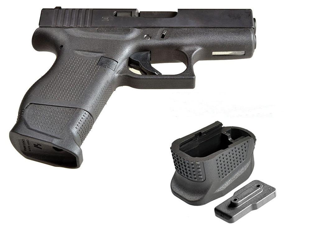 Glock 43 Enhanced Magazine Base Plate Plus Extension For 9mm 6rd Pistol +2-Round G43 Extended Handgun Grip Gun Accessories