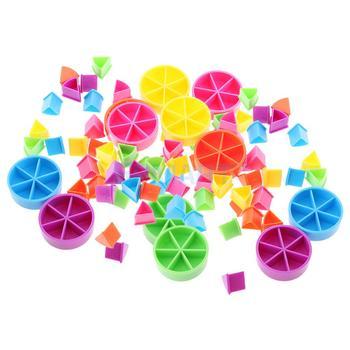 84Pcs Trivial Pursuit Game Pieces Pie Wedges Parts Learning Math Fractions Mathematics Material Kids Education Toys