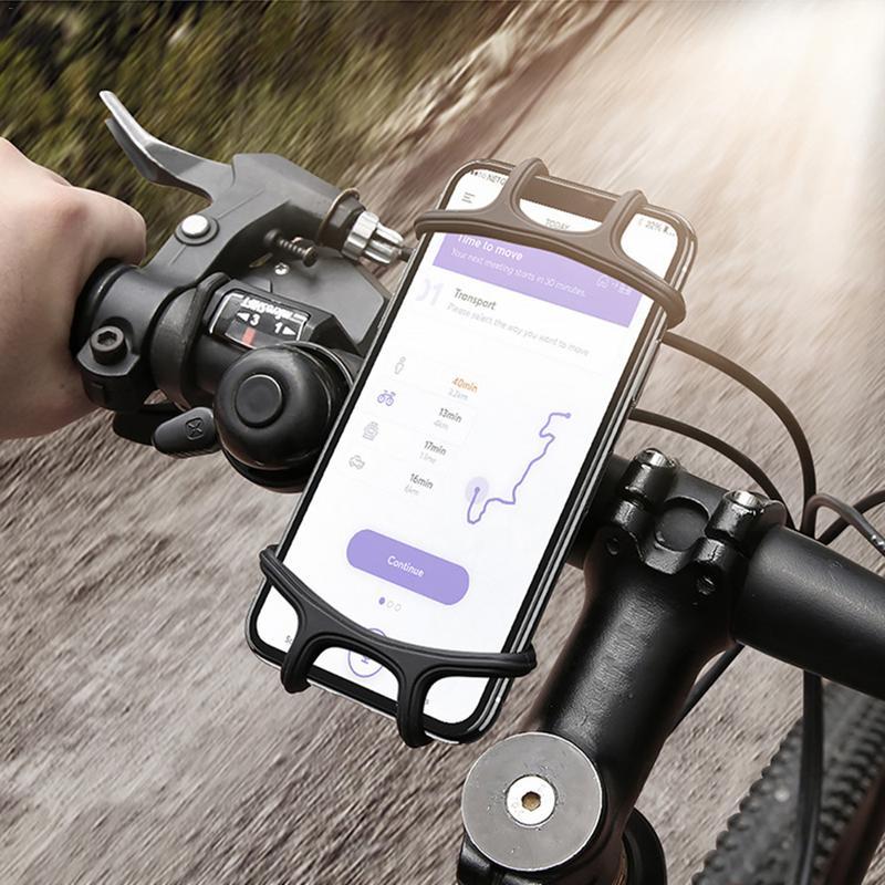 20 pièces support de guidon de téléphone support vélo vélo moto support en silicone support antidérapant pour téléphone portable GPS
