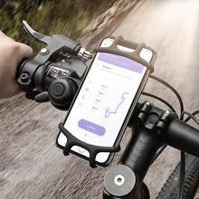 Phone Handlebar Bracket Stand Bike Bicycle Motorcycle Mobile Phone Silicone Holder Mount Buckle Pull Non-slip For Cellphone GPS(China)