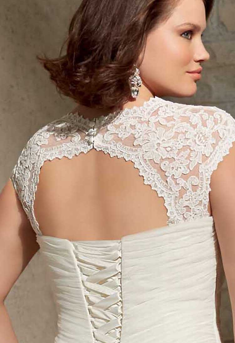Cheap Pleated Bridal Gown With Lace Plus Size Mermaid Lace Up Wedding  Dresses 2015 Keyhole Back In Wedding Dresses From Weddings U0026 Events On  Aliexpress.com ...