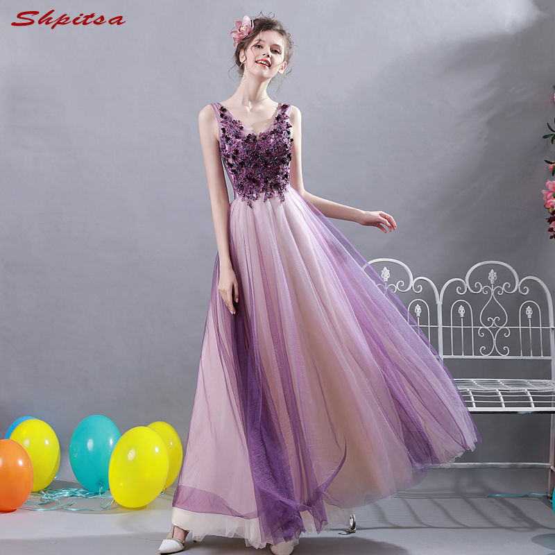 Purple Mother Of The Bride Dresses Lace Beaded A Line Evening Groom Godmother Dresses