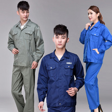 S-3XL Big yards overalls !!! 2017  Blue work put on prime male autumn and winter protecting clothes set