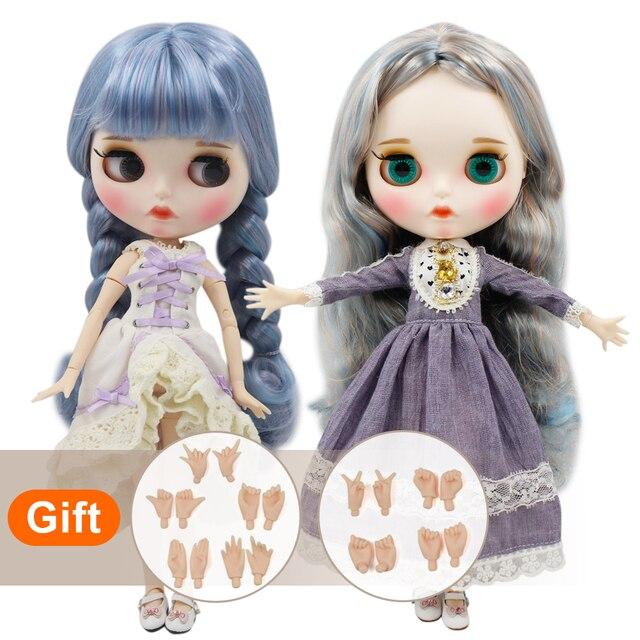 DBS bjd buzlu blyth doll çıplak fabrika normal ve ortak vücut el set AB moda kız bebek özel fiyat