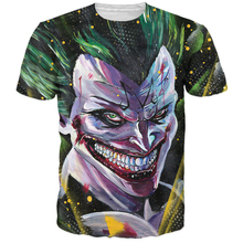 Последним Harajuku стиль футболки аниме бэтмен / Dragonball Z кроссовер Majin джокер футболки мужчины женщины улица битник 3D майка майки