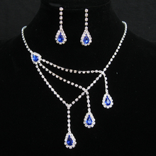 2016 TOP Pendants Necklace /Earrings For Women Exquisite Rhinestone Pendant Necklace Fashion Collar Jewelry red carpet necklace