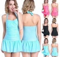 fashion hot new sexy plus size 3XL lingerie colourful baby doll beach dress halter bikini hot langerie sexy para mulheres women