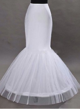 2016 Wholesale Mermaid Petticoat 1 Hoop Bone Elastic Wedding Dress Crinoline 2016 Bridal Petticoat Cheap