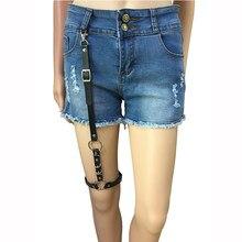5047b24d082 Men Women Fashion harajuku single strap clip lather belts Punk Suspender  Hook Adjustable Leg metal Ring Sock Garter accessories