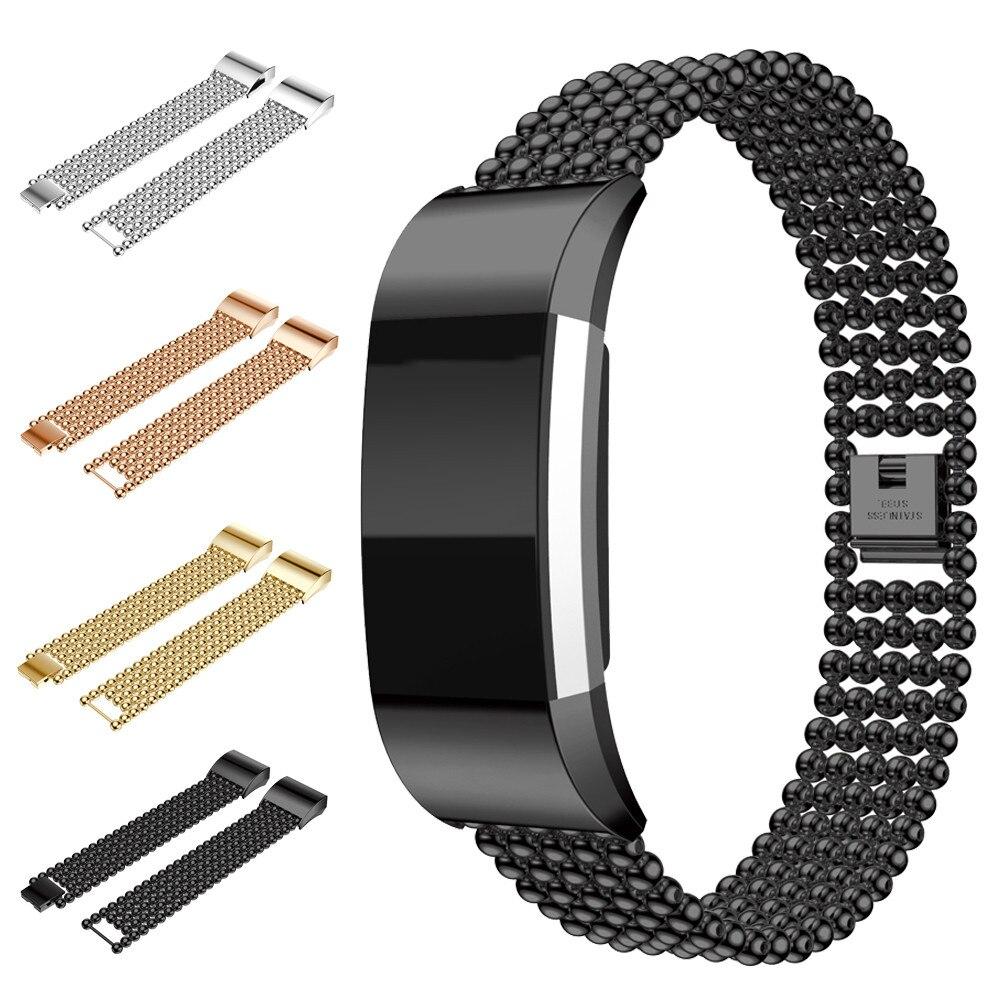 LNOP Belle cinturino per Fitbit Carica 2 di lusso della fascia In acciaio inox la sostituzione della cinghia del wristband del braccialetto di smart watch Accessori