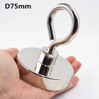 Hot 1Pc Neodymium Magnet Super Strong Powerful Circular Ring Salvage Magnetic Fishing Permanent Ndfeb Hook Holder Sea Equipmen