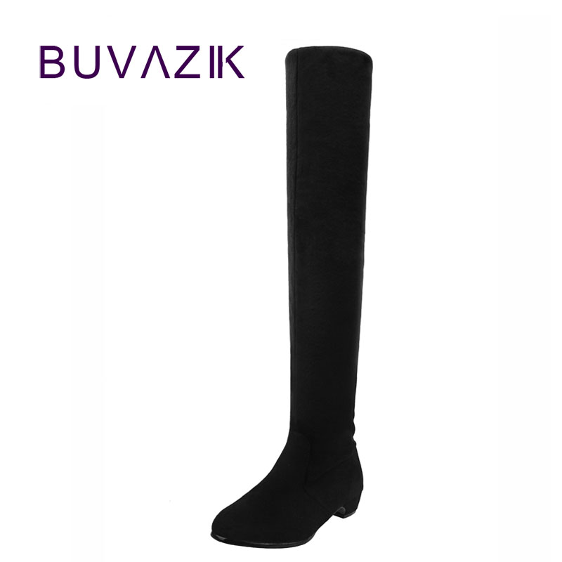 Slim stretch fabric boots sexy over the knee high women