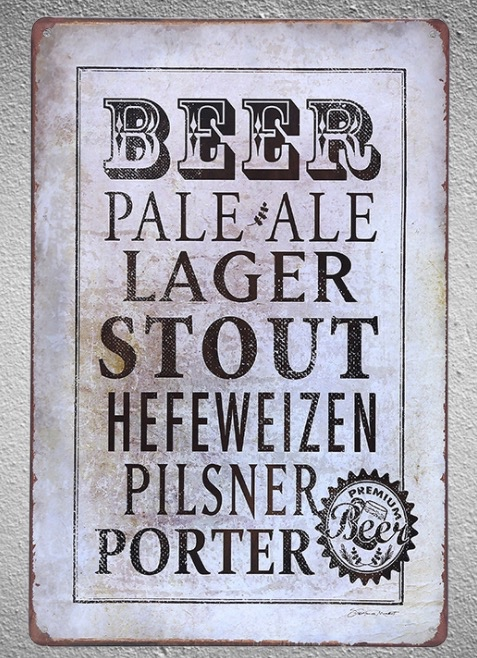 1 pc Beer bar shop drink cocktail shop vintage store Tin Plate Sign wall plaques house Man cave Dropshipping metal Poster in Plaques Signs from Home Garden