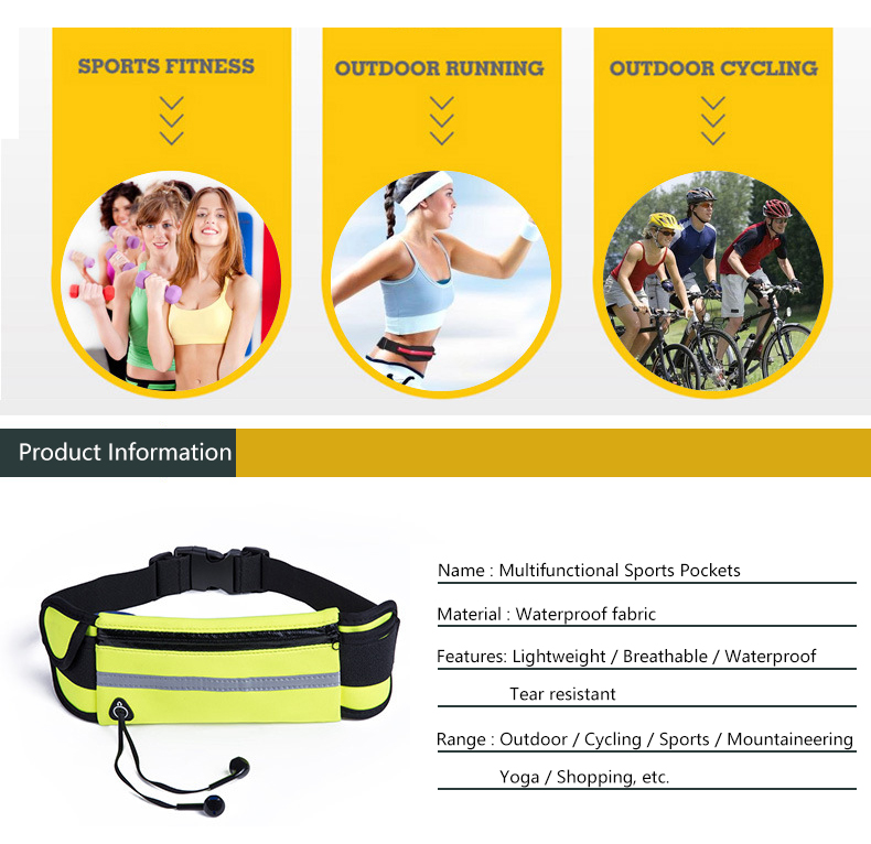 Men Women Running Waist Bag Waterproof Mobile Phone Holder Jogging Sports Running Gym Fitness Bag Lady Sport Accessories 11