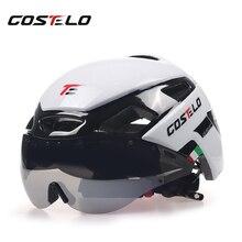 2017 Costelo Свет Велоспорт Шлем MTB Дорожный Велосипед Велосипедный шлем Шлем Скорость Airo RS Ciclismo Очки Безопасный Мужчины Женщины 230 г